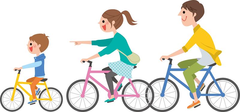 子供と一緒に楽しいサイクリング