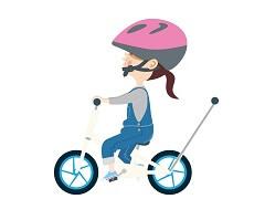 手押し棒付きの自転車