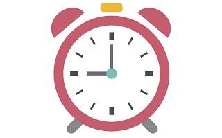 9時を指す時計