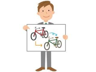自転車のモデルチェンジ