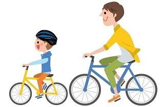 父と子でサイクリング