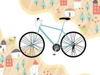 街を走るクロスバイク