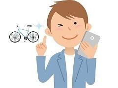 クロスバイクを選ぶ男性
